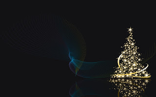 Special Holiday christmas black and burning tree Wallpaper