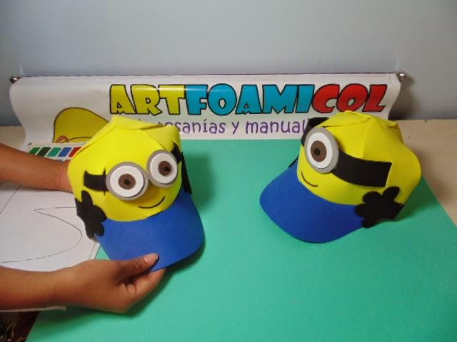Mis Fofuchas 2013 Artfoamicol: LOS MINIONS GORRAS EN FOAMY SUPER ...