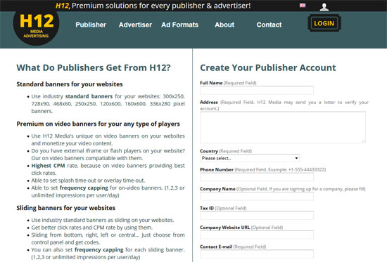 Pengiklanan H12 di blog