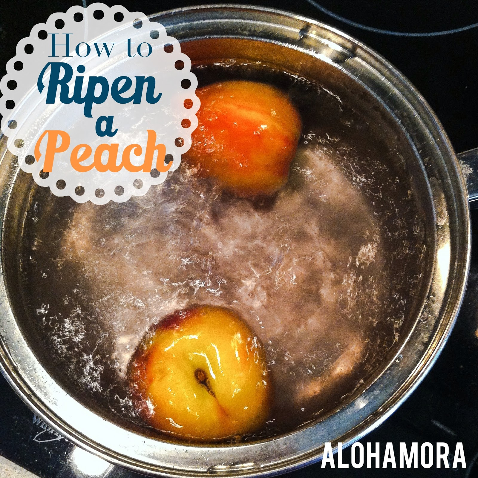 How to Ripen a Peach two different ways.  You can eat or bake with these peaches. Alohamora Open a Book http://www.alohamoraopenabook.blogspot.com/