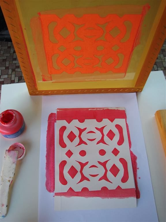 Arty Crafty Studio: Simple Easy Screenprinting with Kids