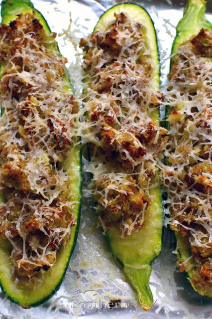 A Southern Soul   stuffed zucchini