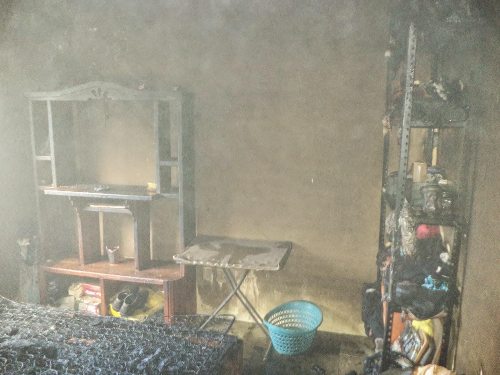 acosur agencia costa sur bomberos contienen incendio en On cuarto quemado