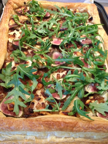 Fig and Goat Cheese Tart | Greased and Floured