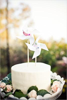 tarta con molinillo de viento