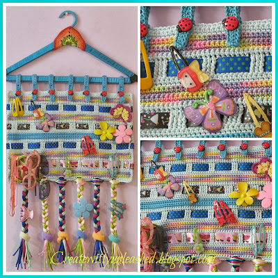 Crochet fashion accessory organiser