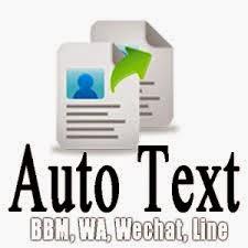 Autotext BBM Android Terbaru