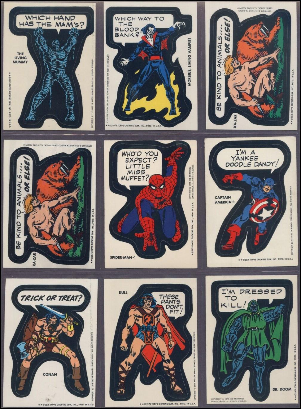 Fantasy Ink: Marvel Superhero Stickers, 1975