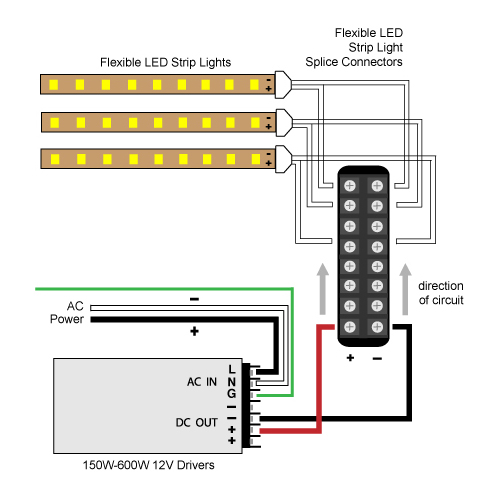 vlightdeco trading led wiring diagrams for 12v led lighting white balance led strip lighting wiring diagrams