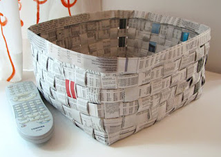 cara membuat kerajinan Keranjang unik dari koran bekas
