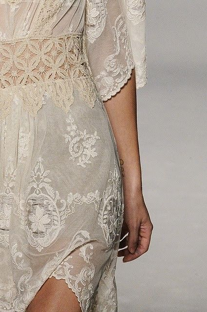 White lace dress for ladies