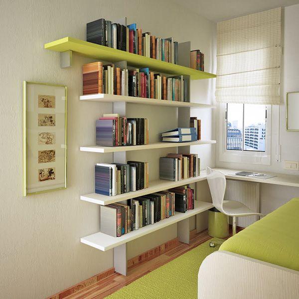 21 Amazing Shelf Rack Ideas For Your Home: Ideas Para Decorar Una Habitación Pequeña De Un