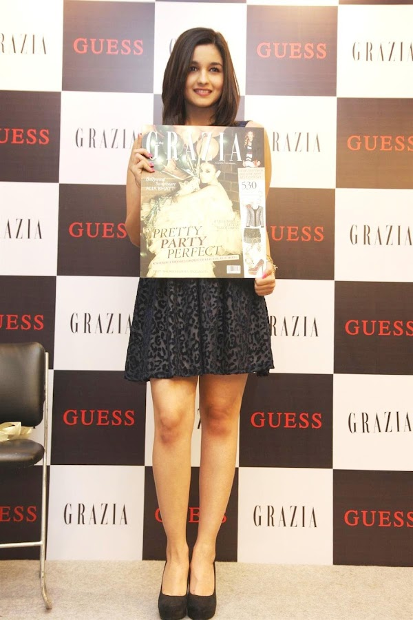 alia bhatt unveils grazia magazine party special issue.