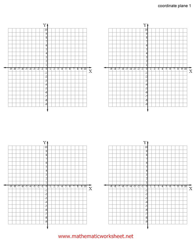 Printable Worksheets With Coordinate Planes | Search Results ...