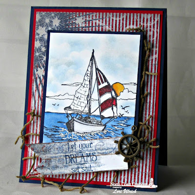 North Coast Creations Stamp sets: Sail Away, Our Daily Bread Designs Custom Dies: Pennants, ODBD Patriotic Paper Collection