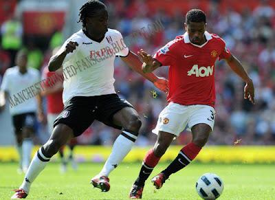 Patrice Evra-Manchester United vs Fulham
