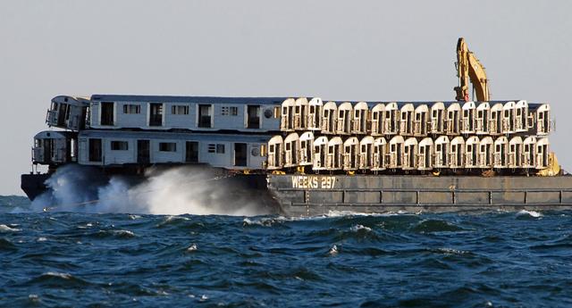 Nova York tem recife artificial de vagões de metrô
