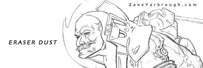 Zane's eraser dust