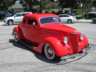 Waarom bandnaam Chop Tops - Viper Red 1936 Ford Coupe