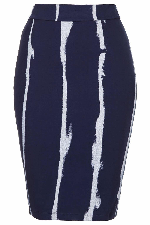 navy stripe skirt topshop