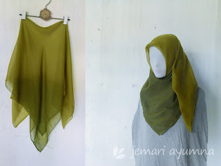 Makeover Jilbab Polos menjadi Jilbab Ombre dengan Bleaching