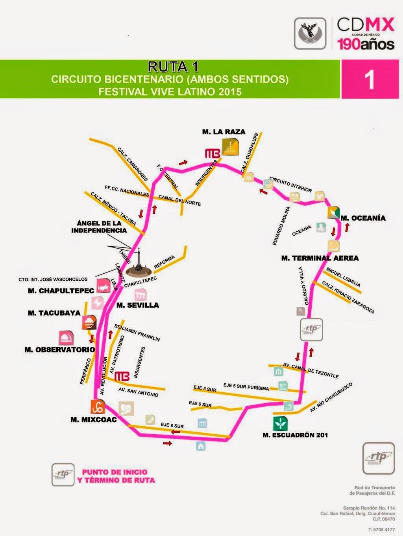 Circuito Kdt Horarios : Circuito bicentenario paradas mapa Éstas son todas las