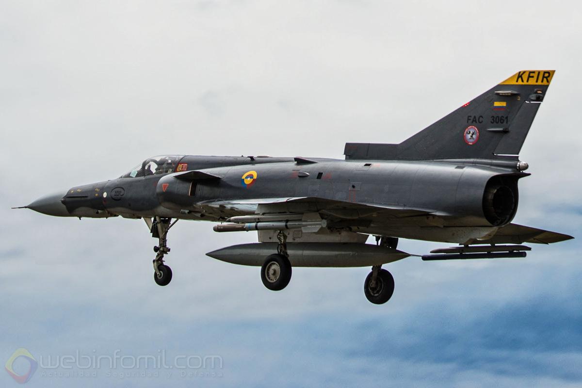 Los Kfir de la Fuerza Aérea Colombiana se encuentran asignados al Escuadrón de Combate 111 del Comando Aéreo de Combate Nº1 (CACOM 1).