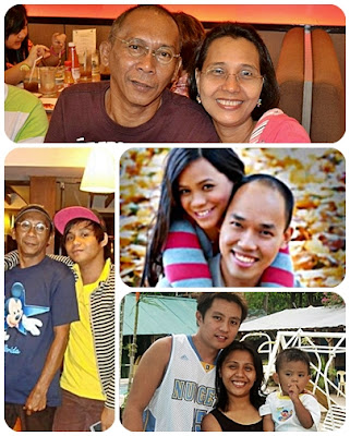 Papaleng with his beloved wife and children