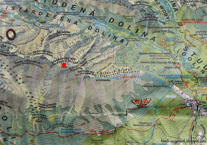 Sławkowski Szczyt na mapie