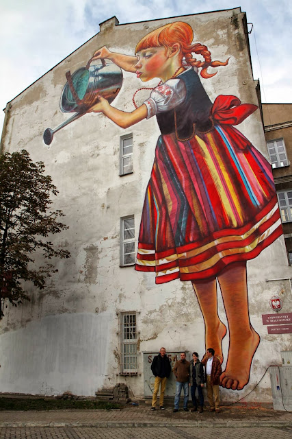 Polish Street Artist Natalia Rak Paints A New Mural On The Streets Of Bialystok For Folk On The Street. 3