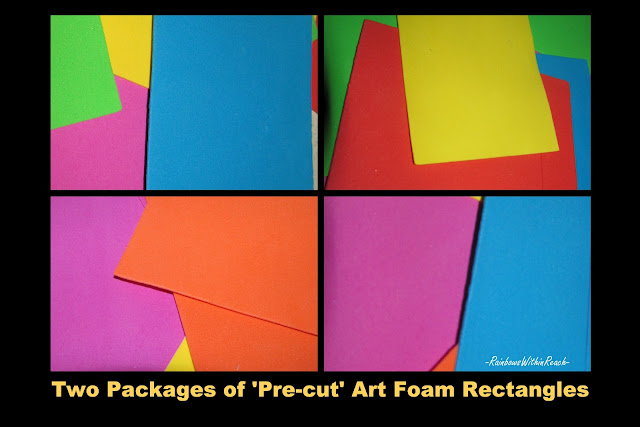 bright colors design, foam sheets, shapes