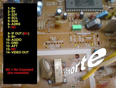 Pinout sintonizador Toshiba TAC9514