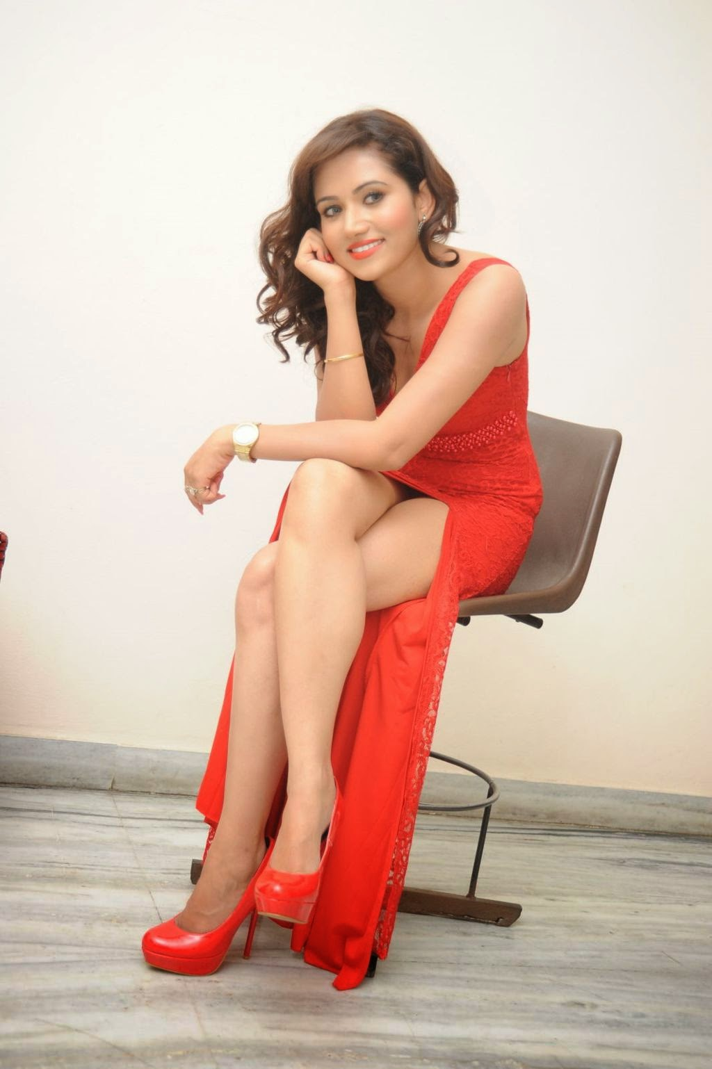 Preethi Rana latest glam pics in red-HQ-Photo-16