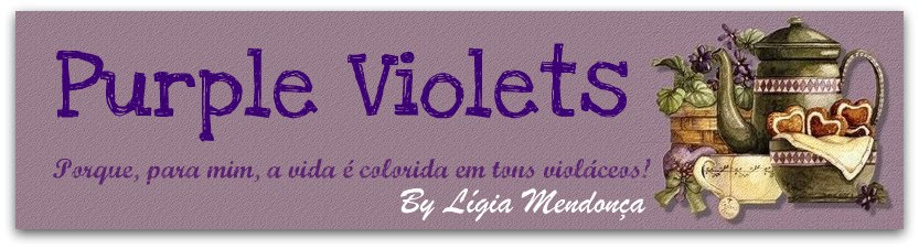Purple Violets by Lígia Mendonça