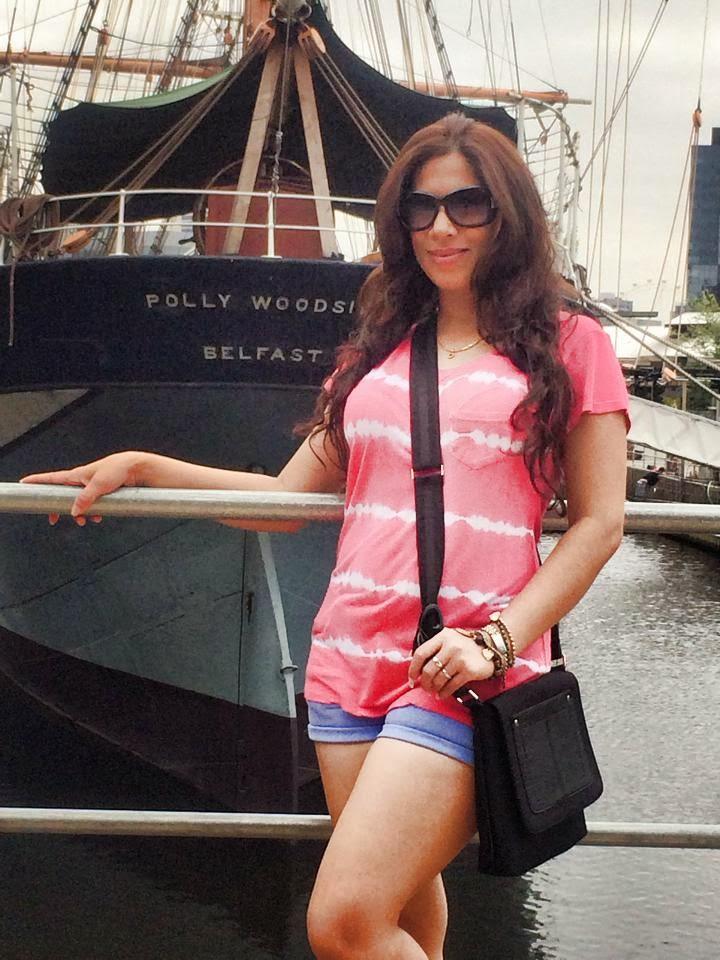 Anusha Rajapaksha blue jeans short