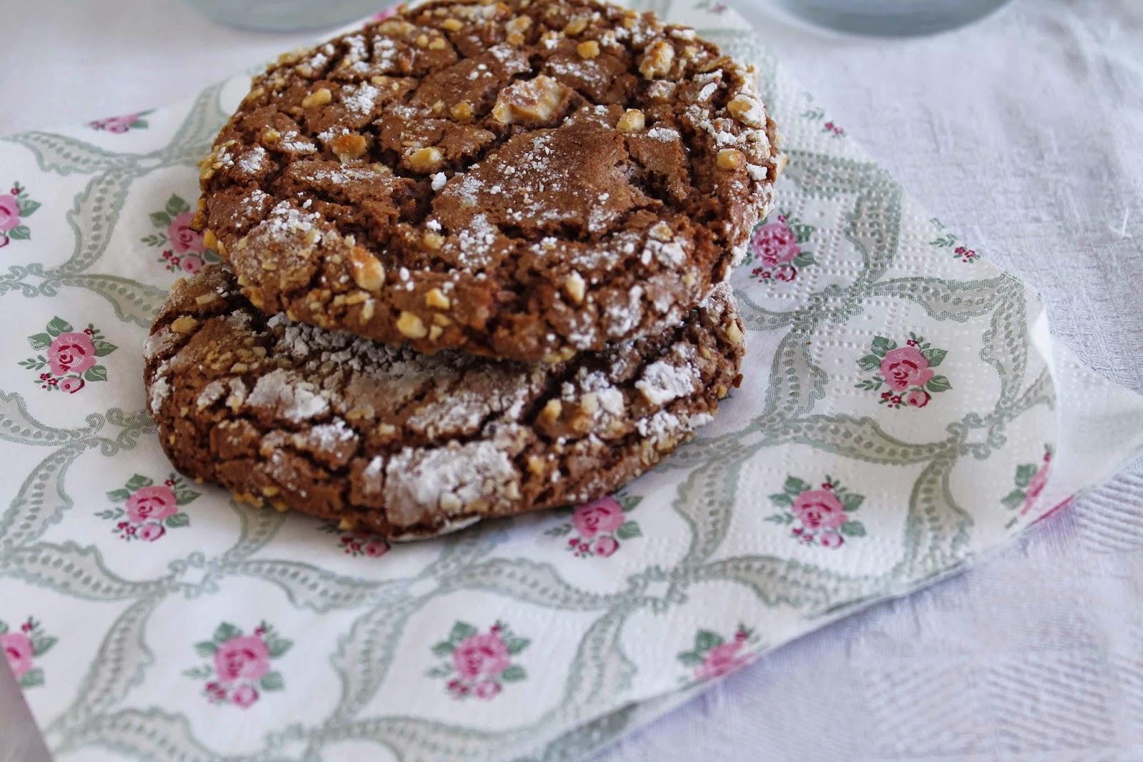 Receta Galletas de Nutella y avellanas