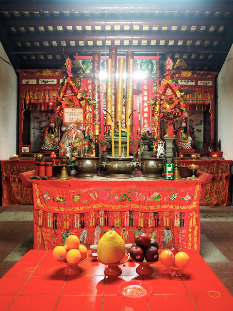 Inside Hung Shing temple in Tai O fishing village, Lantau Island, Hong Kong