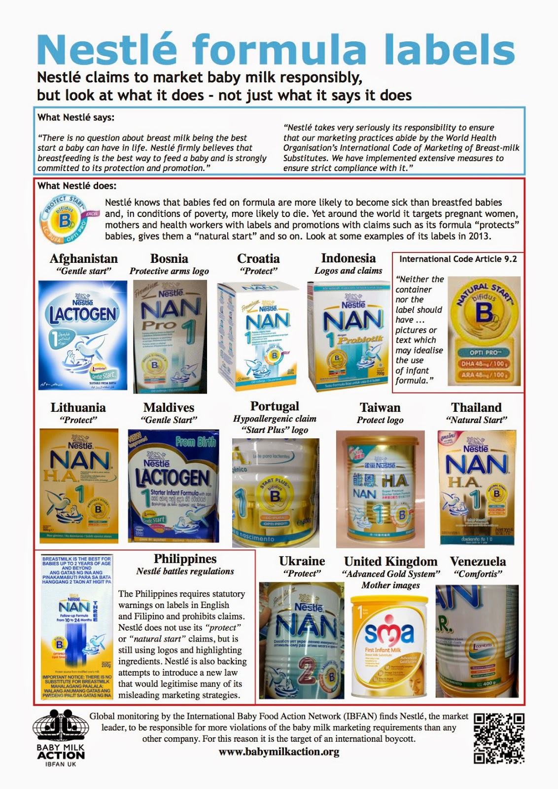 nestle boycotting Nestlé is the target of a boycott because it contributes to the unnecessary death and suffering of infants around the world by aggressively marketing baby foods in breach of international marketing standardseven nestlé's public affairs manager acknowledges the boycott has widespread support according to the world health organisation, 15 million infants die around the world every year.