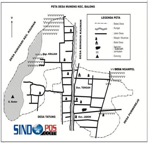Profil Desa & Kelurahan, Desa Muneng Kecamatan Balong Kabupaten Ponorogo