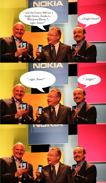 Lumia 900 has a bright future, thanks to Windows Phone 7, right, Steve?