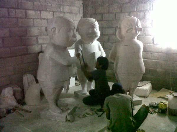 pembuatan patung maskot