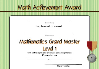 excel math create your own math certificates awards