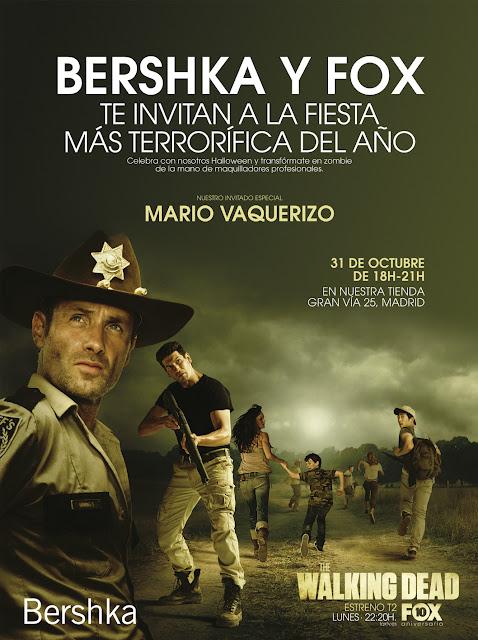 bershka, the walking dead, mario vaquerizo, fiesta, party