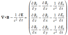 start of transformation of the fourth Maxwell equation