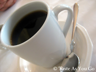 Cup of Coffee at Bolete Restaurant and Inn in Bethlehem, PA - Photo by Michelle Judd of Taste As You Go