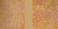 Goosebumps Texture Spray on Printed Cardstock