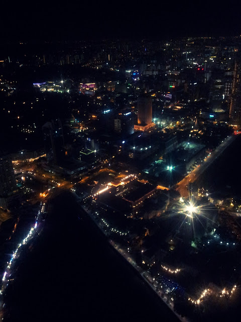Singapore at night, view from 1Altitude
