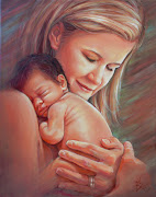 A Mothers Love II. The title of this painting has deep meaning.