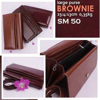 Jual Online Dompet Wanita Model Simple Harga Murah - Brownie SM 50