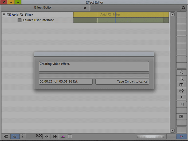 Rendering long clips in Avid FX (Boris RED) can eat up your time.